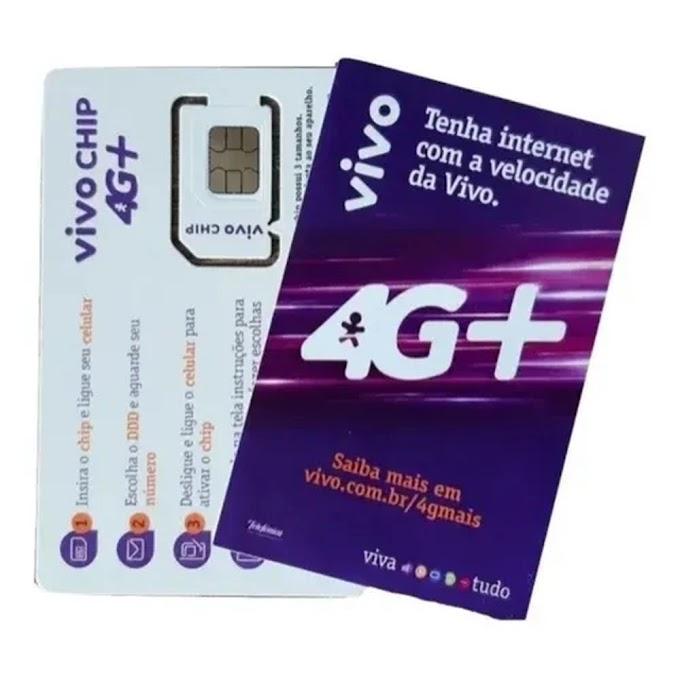 Chip de Dados 200GB  - Internet Rural - Chip da Vivo
