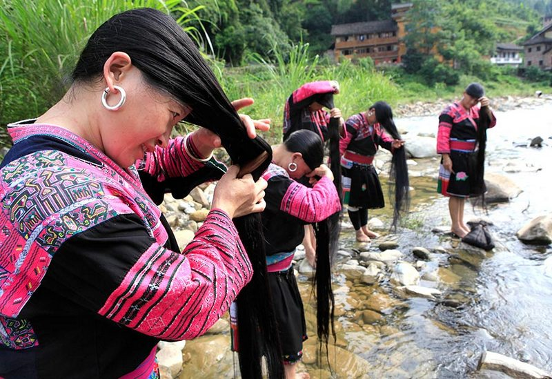 china long hair village, long chinese hair, yao women, yao women hair, hair village, huangluo yao village hair, huangluo village, huangluo, women with long hair, long hair village, chinese long hair