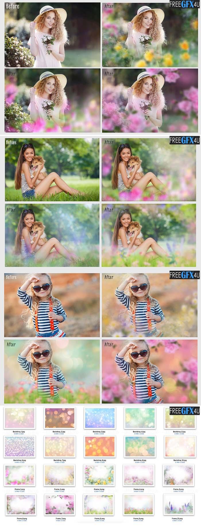 Art Flowers Photo Overlays