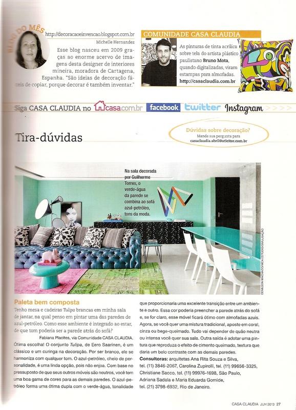 Blog do mês da Casa Cláudia