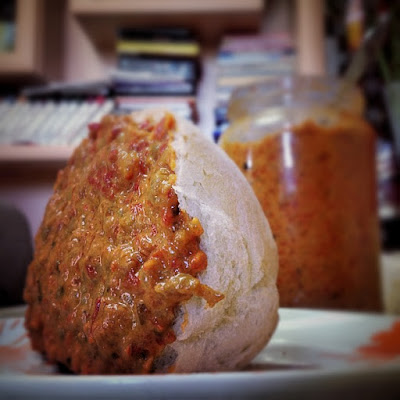 ajvar and bread