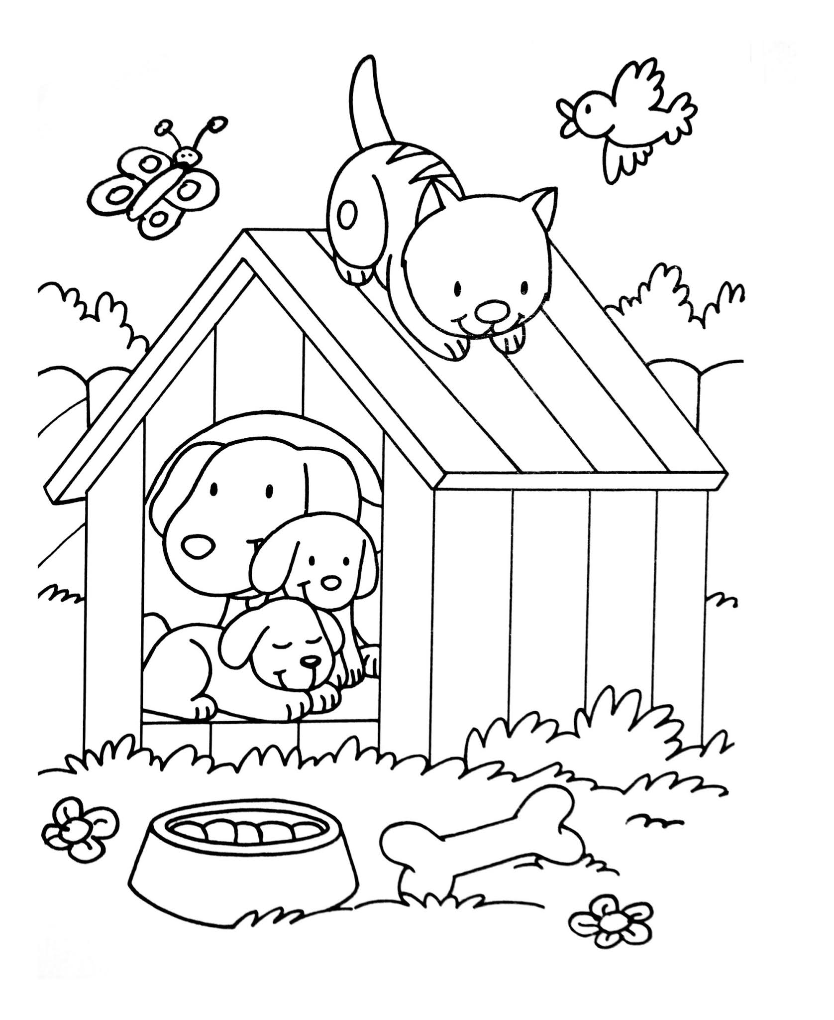 Dogs coloring pages 65