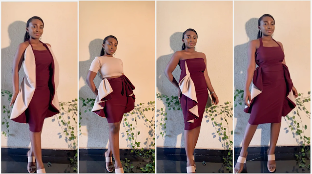 Made in Nigeria gown wearable in 6 different ways