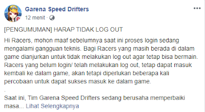 Garena Speed Drifter Error Login