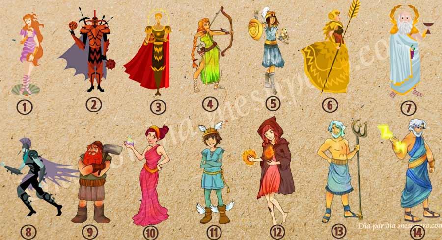 Test de los dioses griegos