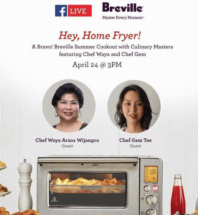 """Two renowned chefs at the """"Hey, Home Fryer!"""" event"""