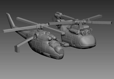 Helicopter heavy gunship