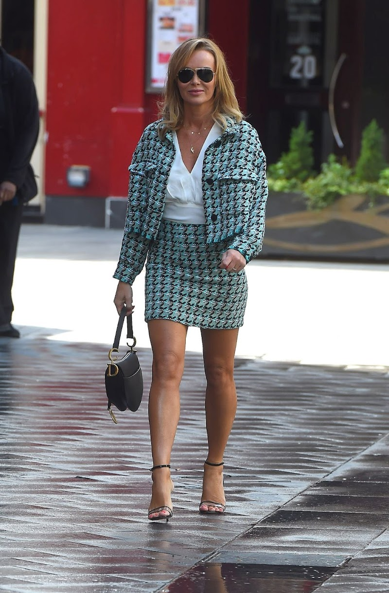 Amanda Holden Snapped at Heart Radio Studios in London 16 Jun -2020
