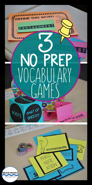 Teach and review critical vocabulary with this fun and educational vocabulary games!  Easy to set up!  Easy to play!  And the best part?  Students are excited about learning vocabulary!  Oh, and there's an exclusive FREEBIE, too!