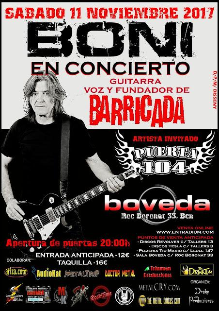 concierto de boni en la sala boveda de barcelona