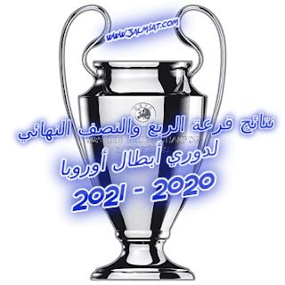 نتائج قرعة الربع والنصف النهائي لدوري أبطال أوروبا موسم 2020 – 2021
