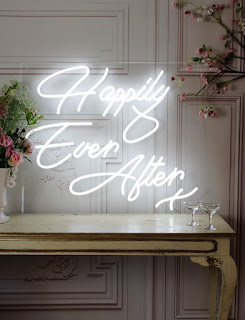 Happy Ever After x neon sign rental
