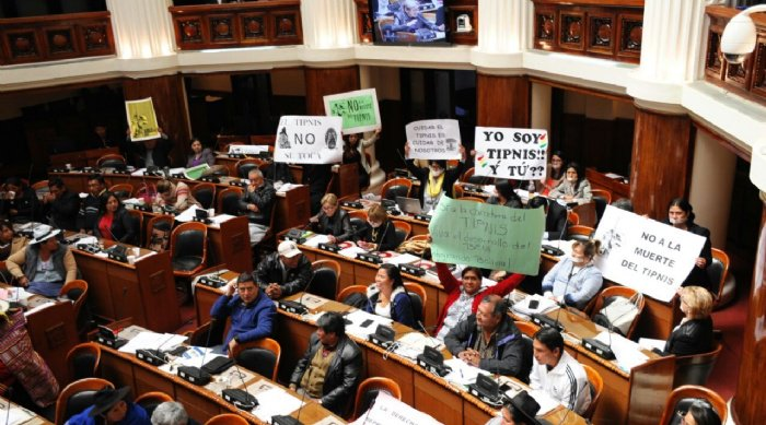 Bancadas de oposición en estéril denuncia contra la intervención al TIPNIS