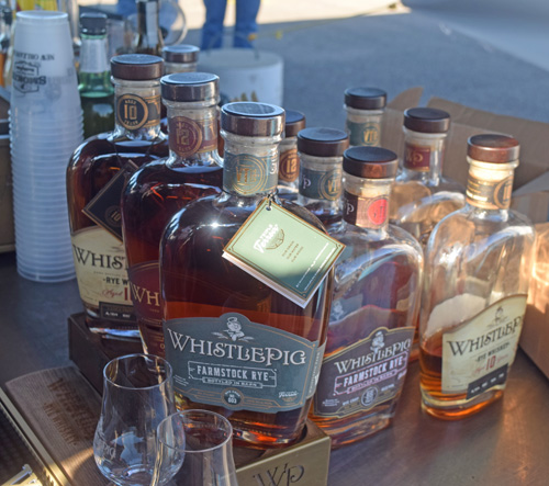Whistle Pig Rye Whiskey was a great way to fend off the cold at the 2019 Smokin' with Smithfield National Barbecue Championship