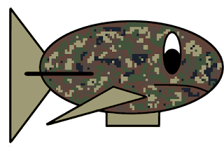 Dream Team Royale Camo Fish Blimp