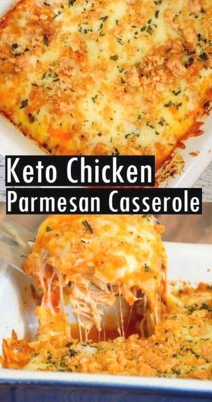 Keto Chicken Parmesan Casserole