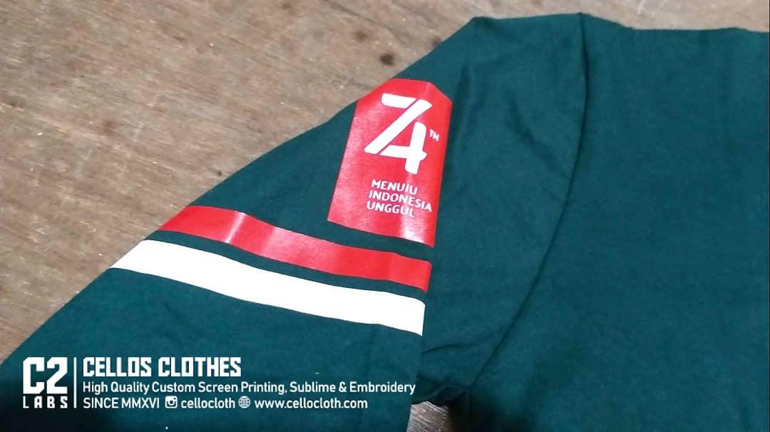 Sablon Kaos Gathering Dinas Bahan Cotton Combed 30s Adem Untuk Outdoor