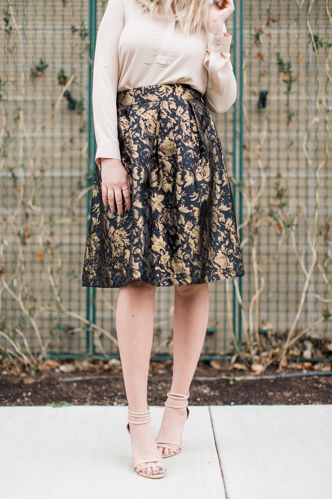 Jacquard Skirt, Cute Skirt, Spring Skirt