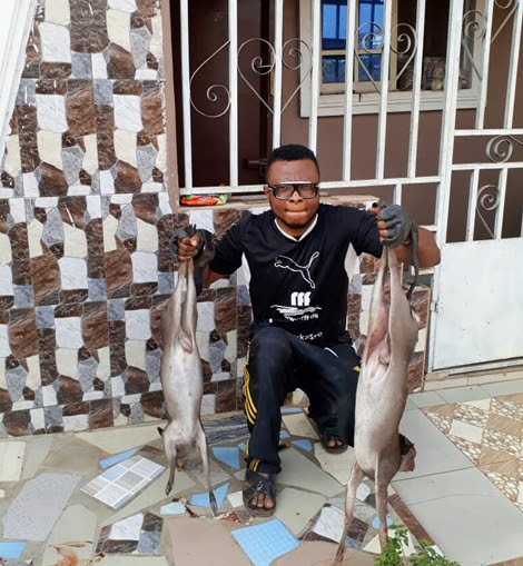 Man Catches Two Deer In His Farm, Makes Peppersoup, Grilled Others (Photos)