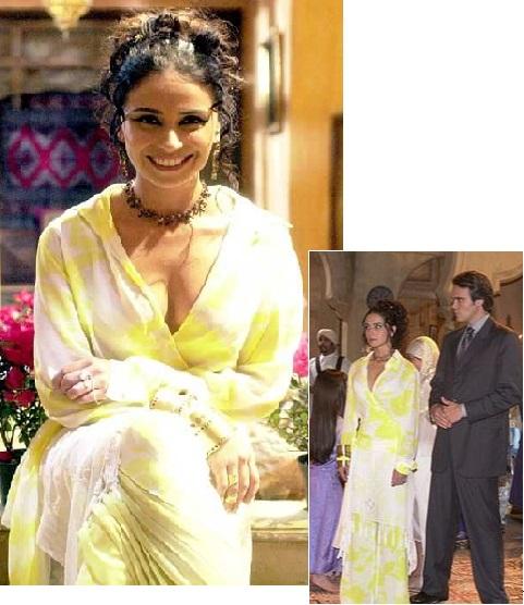 Imagem jade com look amarelo