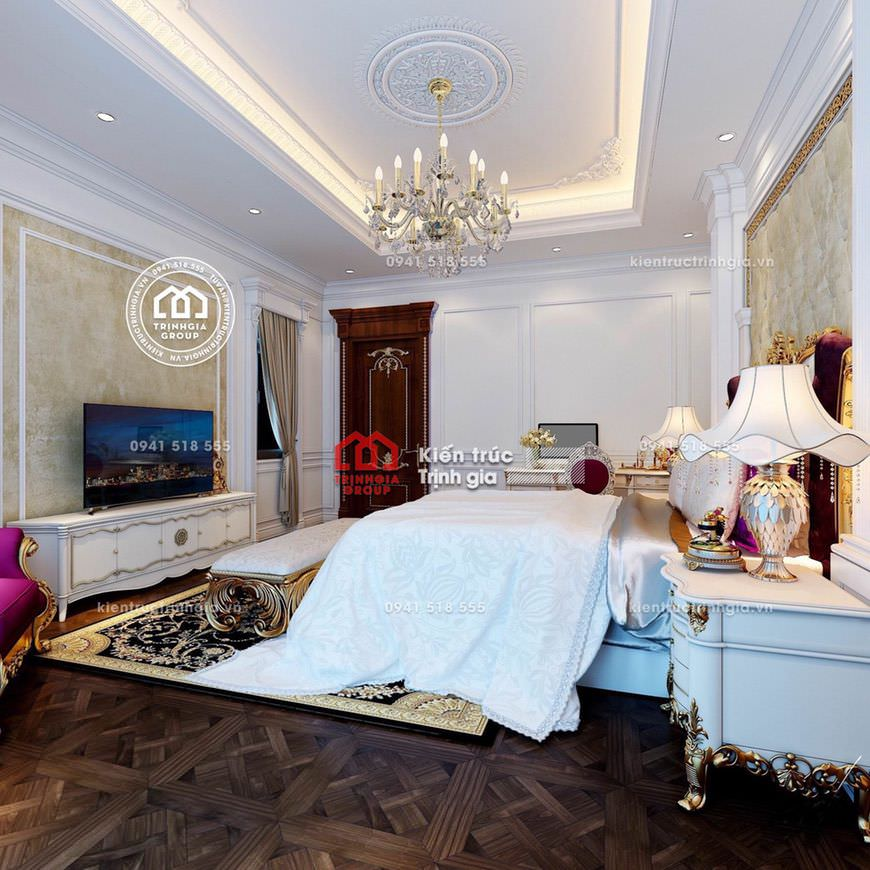 Nội thất lâu đài - Đẳng cấp với kiến trúc kiểu Pháp cổ điển