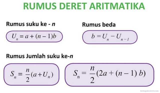 Rumus - rumus deret arimatika dan deret bilangan geometri - berbagaireviews.com