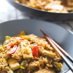 Tofu Wok with Rice and Vegetables
