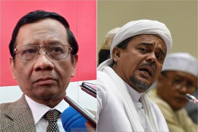 Pernyataan Mahfud MD Dinilai Memukul Habib Rizieq, Berbahaya