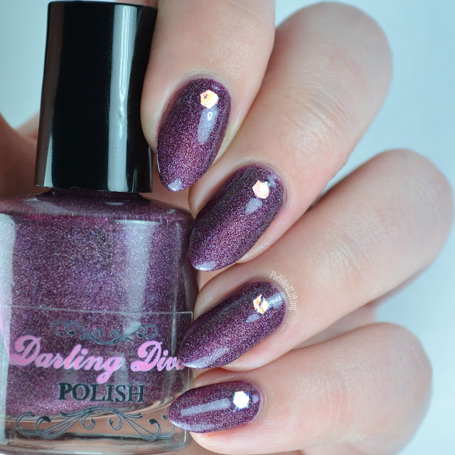 wine colored holographic nail polish