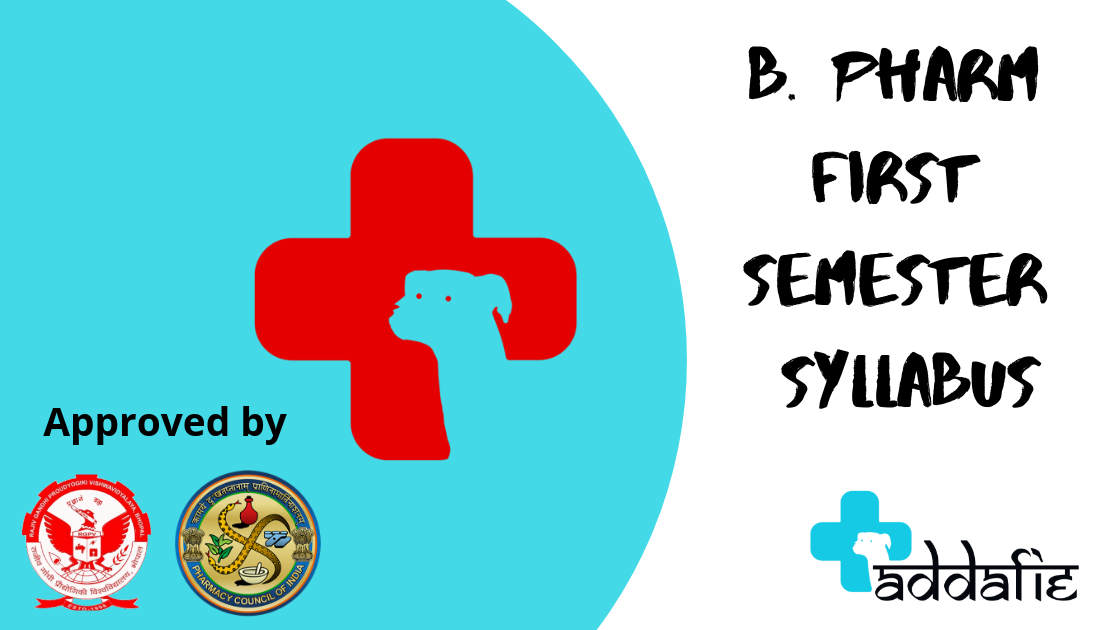 B PHARM SYLLABUS | RGPV ONLINE | B PHARM FIRST SEMESTER SYLLABUS