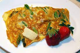 bacon cheese tomato omelet