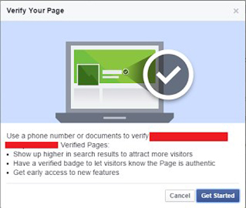 how to verify facebook profile with blue check mark