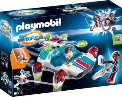 PLAYMOBIL Super 4 9002 FulguriX con Agente Gene CAJA JUGUETE