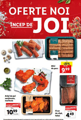 LIDL Catalog Brosura 25.11-01.12.2019 oferte promotii carne si mezeluri