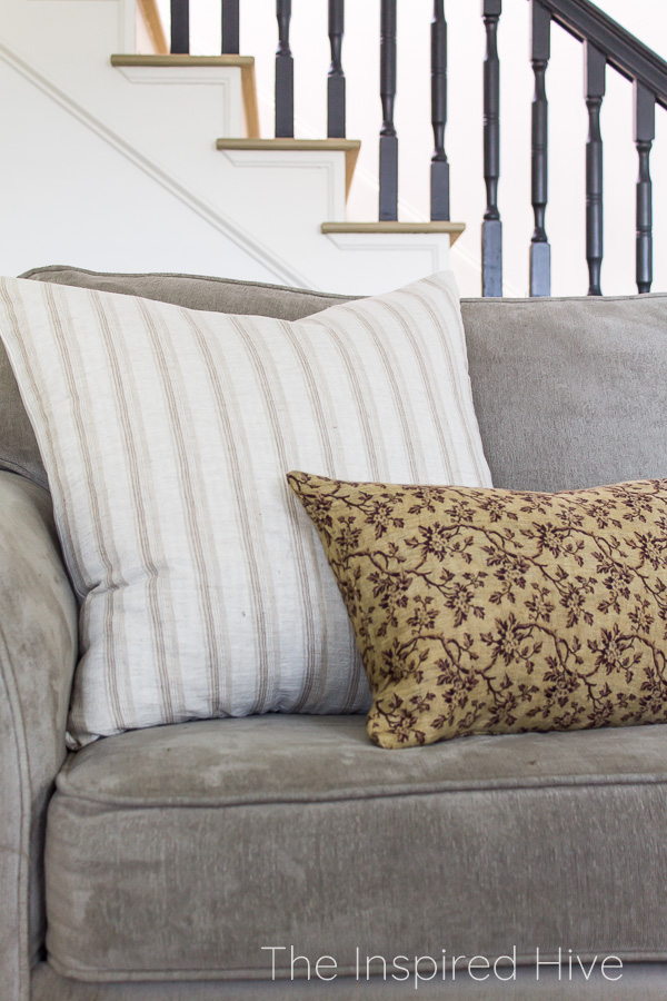 Throw pillows with traditional patterns