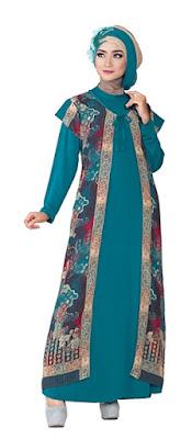 Baju Batik Gamis Muslim