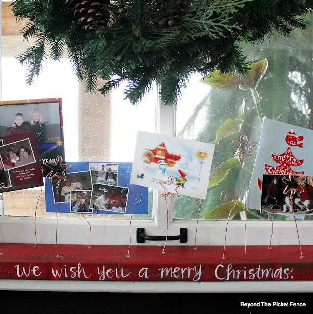 Christmas cards, Photo display, wire card holder, Christmas decor, https://goo.gl/jqy1pU