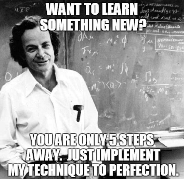 How to use the Feynman method of learning