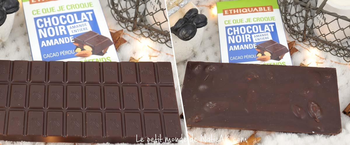 Ethiquable chocolat noir amande entière