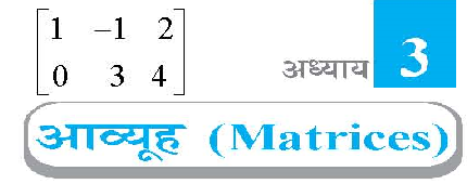 My Class Pdf: Class 12 Maths Chapter 3 Matrices in Hindi Medium