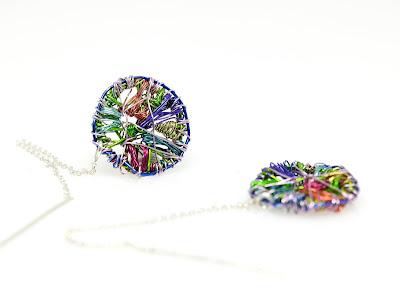 Art earrings, art jewelry