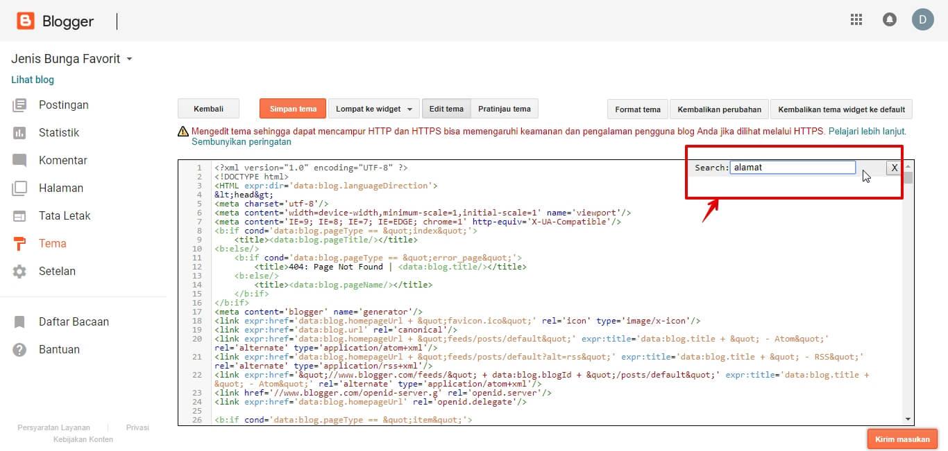 Cara Mencari Kode Template