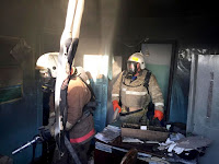 (ФОТО)Пожар на территории животноводческого хозяйства в селе Курьи