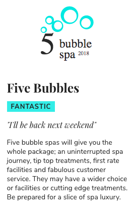 13 Reasons Why Ramside Spa is the Best North East Spa - 5 bubbles spa