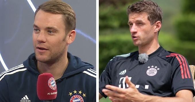 Bayern Players react to the clash against Barca in Champions League