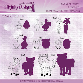Divinity Designs LLC Farm Friends Stamp/Die Duos