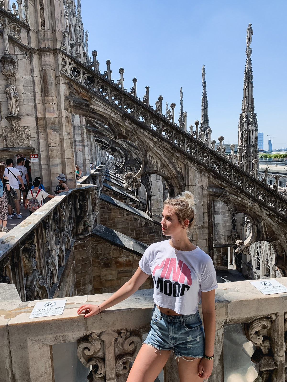 On top of Duomo di Milano