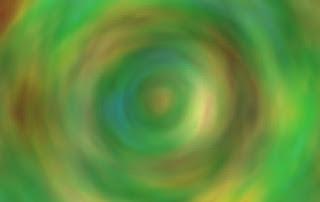 同心円を描くノイズ色面