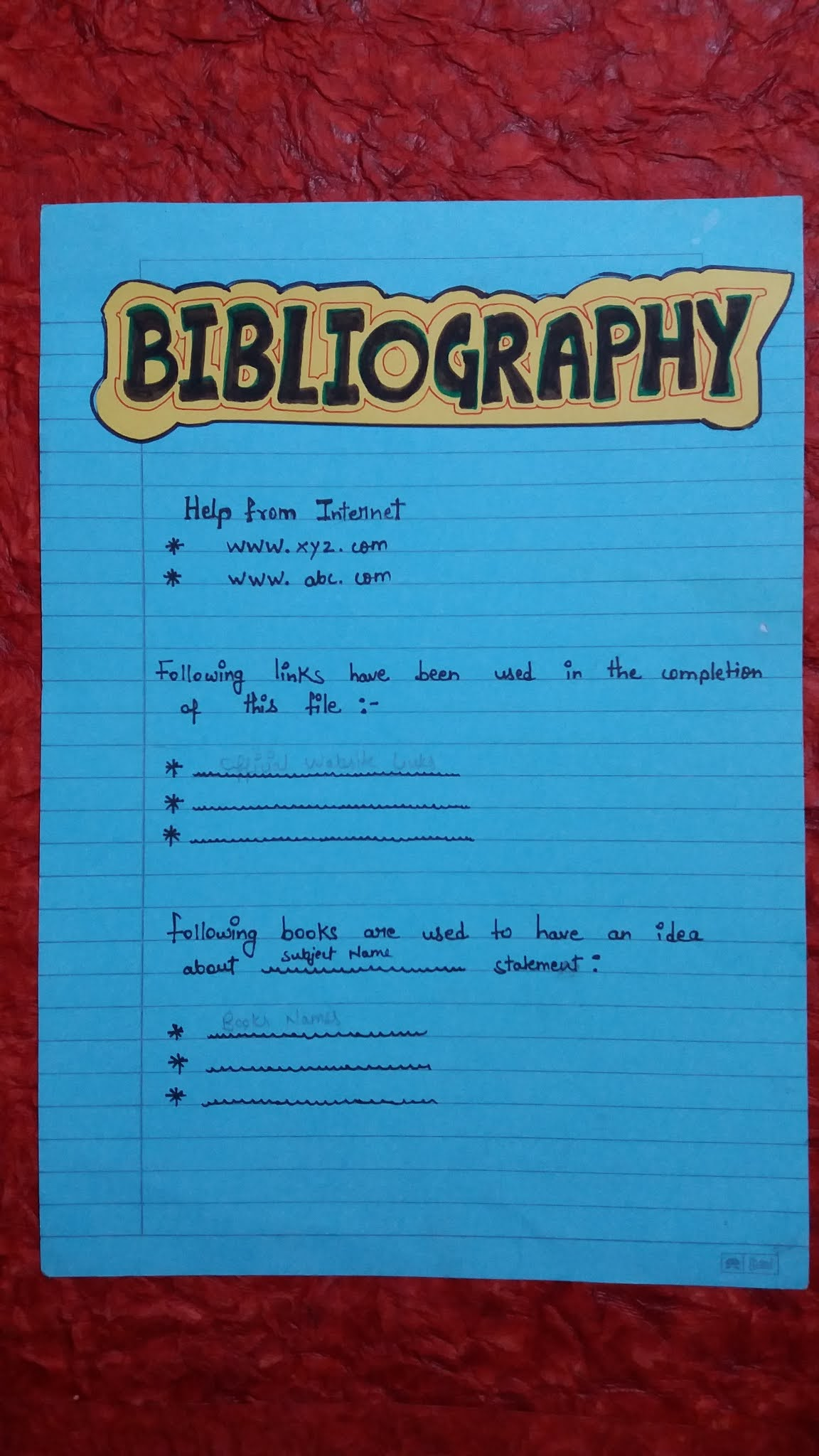 How to write Bibliography for Project File  How to make project