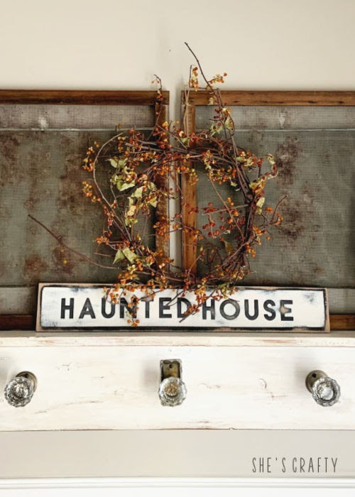 Halloween Home Tour - Halloween mantel |  She's Crafty
